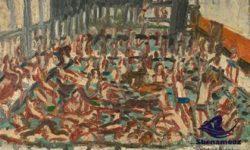 نقاشی سنگی شنا در روم باستان | مقاله شنا ؛ سابقه و تاریخچه شنا ، آموزش شنا و مسابقات شنا | وبلاگ آموزش شنای شنا آموز