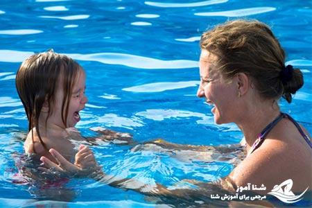ترس از آب از عوامل کند کننده آموزش شنا